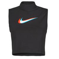 tekstylia Damskie Topy na ramiączkach / T-shirty bez rękawów Nike W NSW TANK MOCK PRNT Czarny