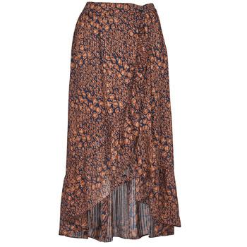 tekstylia Damskie Spódnice Betty London PAOLA Marine / Ocre
