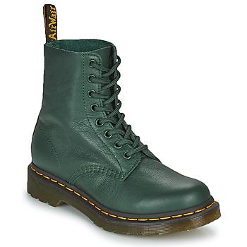Buty Damskie Buty za kostkę Dr Martens 1460 PASCAL Zielony
