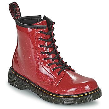 Buty Dziewczynka Buty za kostkę Dr Martens 1460 J Czerwony