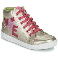 Buty Dziewczynka Trampki wysokie Agatha Ruiz de la Prada FLOW Beżowy / Różowy