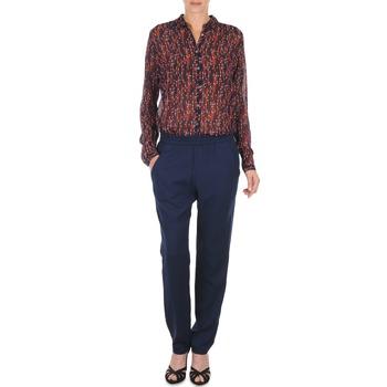 tekstylia Damskie Spodnie z lejącej tkaniny / Alladynki Marc O'Polo ALBA Niebieski / Fonce / Czerwony