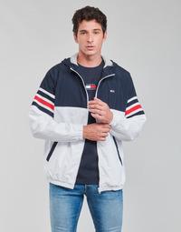 tekstylia Męskie Kurtki krótkie Tommy Jeans TJM COLORBLOCK ZIPTHRU Niebieski / Biały / Czerwony