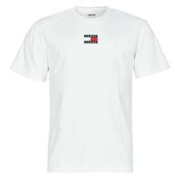 tekstylia Męskie T-shirty z krótkim rękawem Tommy Jeans TJM TOMMY BADGE TEE Biały