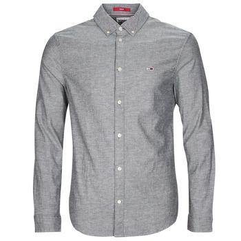 tekstylia Męskie Koszule z długim rękawem Tommy Jeans TJM STRETCH OXFORD SHIRT Czarny