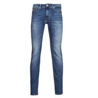 tekstylia Męskie Jeansy slim fit Tommy Jeans SCANTON SLIM AE136 MBS Niebieski / Medium