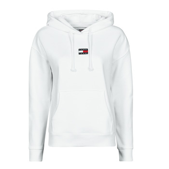 tekstylia Damskie Bluzy Tommy Jeans TJW TOMMY CENTER BADGE HOODIE Biały