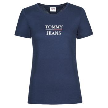 tekstylia Damskie T-shirty z krótkim rękawem Tommy Jeans TJW SKINNY ESSENTIAL TOMMY T SS Marine