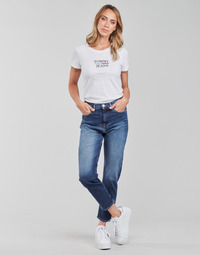 tekstylia Damskie Jeansy straight leg Tommy Jeans IZZIE HR SLIM ANKLE AE632 MBC Marine