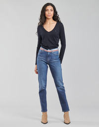 tekstylia Damskie Jeansy straight leg Tommy Hilfiger NEW CLASSIC STRAIGHT HW A LEA Niebieski / Medium