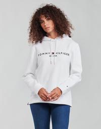tekstylia Damskie Bluzy Tommy Hilfiger HERITAGE HILFIGER HOODIE LS Biały