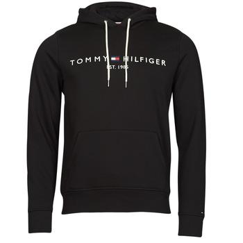 tekstylia Męskie Bluzy Tommy Hilfiger TOMMY LOGO HOODY Czarny
