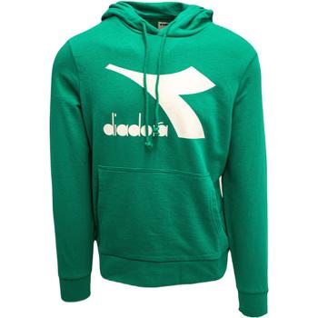 tekstylia Męskie Bluzy Diadora Big Logo Zielony