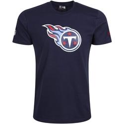 tekstylia Męskie T-shirty z krótkim rękawem New-Era Tennessee Titans Team Logo Niebieski
