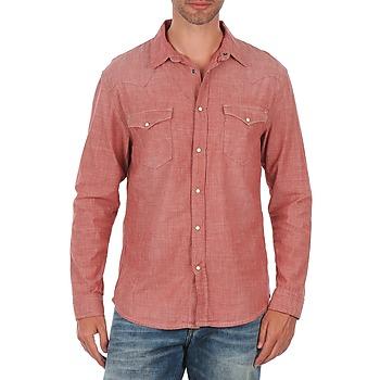 tekstylia Męskie Koszule z długim rękawem Selected Doha shirt ls r J Czerwony