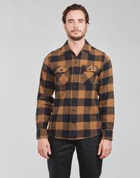 tekstylia Męskie Koszule z długim rękawem Dickies NEW SACRAMENTO SHIRT Camel / Czarny