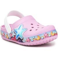 Buty Dziewczynka Chodaki Crocs FL Star Band Clog 207075-6GD fioletowy