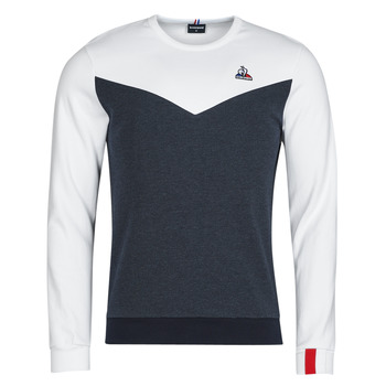 tekstylia Męskie Bluzy Le Coq Sportif SAISON 1 CREW SWEAT N 1 Marine / Biały