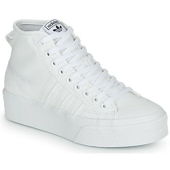 Buty Damskie Trampki wysokie adidas Originals NIZZA PLATFORM MID Biały