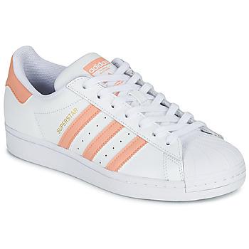 Buty Damskie Trampki niskie adidas Originals SUPERSTAR Biały / Różowy