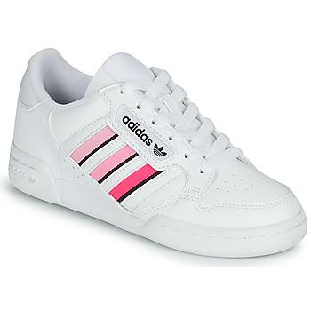 Buty Dziewczynka Trampki niskie adidas Originals CONTINENTAL 80 STRI J Biały / Różowy