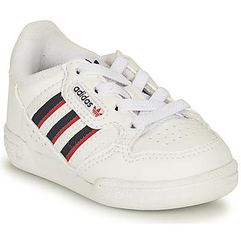 Buty Dziecko Trampki niskie adidas Originals CONTINENTAL 80 STRI I Biały / Niebieski