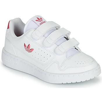 Buty Dziewczynka Trampki niskie adidas Originals NY 90  CF C Biały / Różowy