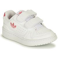Buty Dziewczynka Trampki niskie adidas Originals NY 90 CF I Biały / Różowy