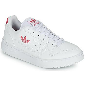 Buty Dziewczynka Trampki niskie adidas Originals NY 90 J Biały / Różowy