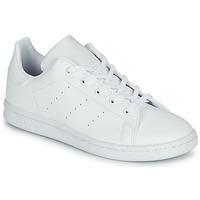 Buty Dziecko Trampki niskie adidas Originals STAN SMITH C Biały
