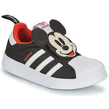 Buty Chłopiec Trampki niskie adidas Originals SUPERSTAR 360 C Czarny / Mickey