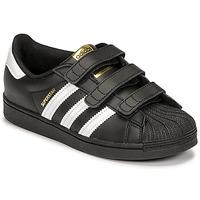 Buty Dziecko Trampki niskie adidas Originals SUPERSTAR CF C Czarny / Biały