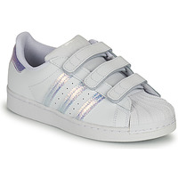 Buty Dziecko Trampki niskie adidas Originals SUPERSTAR CF C Biały / Argenté