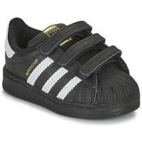 Buty Dziecko Trampki niskie adidas Originals SUPERSTAR CF I Czarny / Biały