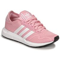 Buty Dziewczynka Trampki niskie adidas Originals SWIFT RUN X J Różowy / Biały