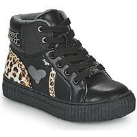 Buty Dziewczynka Trampki wysokie Primigi GIRL ALPHA Czarny / Leopard