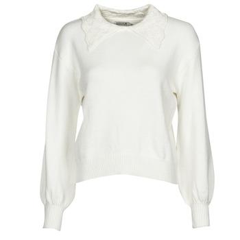 tekstylia Damskie Swetry Molly Bracken LA878A21 Biały