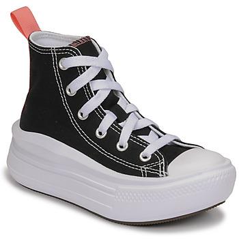 Buty Dziewczynka Trampki wysokie Converse CHUCK TAYLOR ALL STAR MOVE CANVAS HI Czarny / Różowy