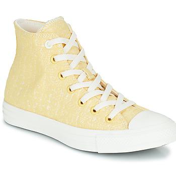 Buty Damskie Trampki wysokie Converse CHUCK TAYLOR ALL STAR HYBRID TEXTURE HI Żółty