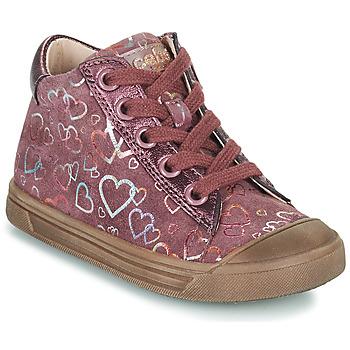 Buty Dziewczynka Trampki wysokie Acebo's 5533EL-GRANADA Różowy