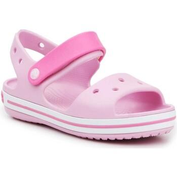 Buty Dziewczynka Sandały Crocs Crocband Sandal Kids12856-6GD różowy
