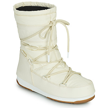 Buty Damskie Śniegowce Moon Boot MOON BOOT MID RUBBER WP Creme