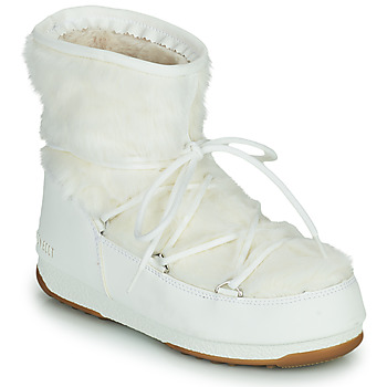 Buty Damskie Śniegowce Moon Boot MOON BOOT MONACO LOW FUR WP 2 Biały