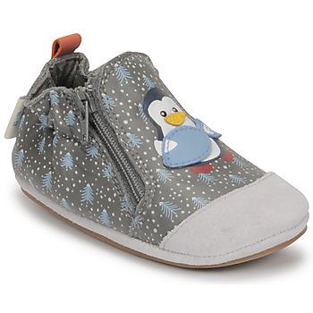 Buty Chłopiec Kapcie niemowlęce Robeez BLUE PINGUINS Szary