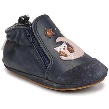 Buty Dziewczynka Kapcie niemowlęce Robeez NICE OWL Marine