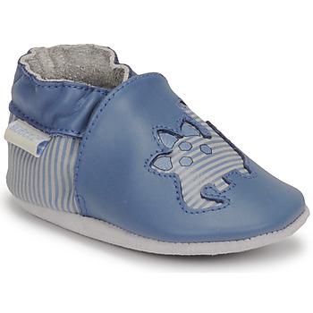 Buty Chłopiec Kapcie niemowlęce Robeez DIFLYNO Niebieski