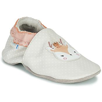 Buty Dziewczynka Kapcie niemowlęce Robeez FANCY SNOW Beżowy