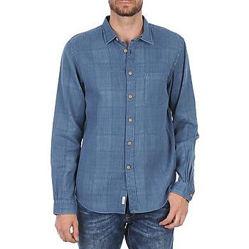 tekstylia Męskie Koszule z długim rękawem Façonnable JJMCT502000ERE Niebieski