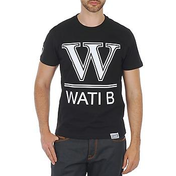 tekstylia Męskie T-shirty z krótkim rękawem Wati B TEE Czarny