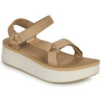 Buty Damskie Sandały Teva Flatform Universal Beżowy / Biały